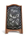 Restaurant blackboard display isolated Royalty Free Stock Images