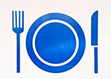 Restaurant blue sign Royalty Free Stock Images