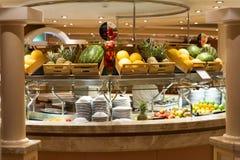 Restaurant on board of cruise ship Stock Photos