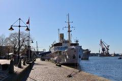Restaurant boat in Gothenburg Stock Photo
