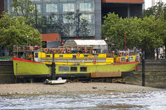 Restaurant Boat on the River Thames Royalty Free Stock Photo