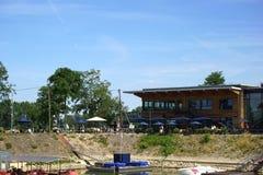 Restaurant Boathouse Mainz Royalty Free Stock Photography