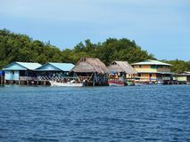 Restaurant in Bocas del Toro Stock Image