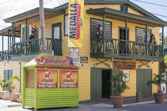 Restaurant in Boqueron Royalty-vrije Stock Foto