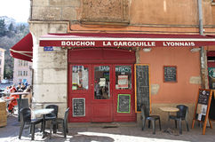 Restaurant bouchon in Lyon, France Royalty Free Stock Image