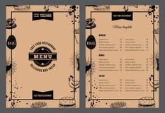 Restaurant brochure. Vector illustration with menu design Stock Images