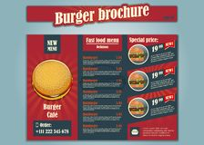 Restaurant brochure vector, menu design. Vector cafe template with hand-drawn graphic. royalty free illustration