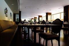 Restaurant. The brown modern style restaurant Stock Image