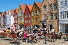Restaurant at Bryggen Royalty Free Stock Photo