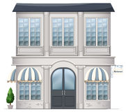 A restaurant building. Illustration of a restaurant building on a white background Stock Photography
