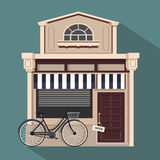Restaurant buildings set  illustration cartoon cafe bistro diner coffee house. Illustration realistic object  background Royalty Free Stock Photos