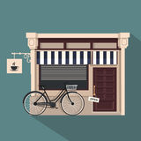 Restaurant buildings set  illustration cartoon cafe bistro diner coffee house. Illustration realistic object  background Stock Image