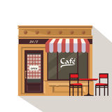 Restaurant buildings set  illustration cartoon cafe bistro diner coffee house. Illustration realistic object  background Stock Images