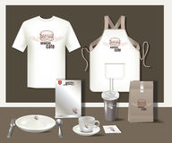 Restaurant burgers cafe set flyer, menu, package, t-shirt,cup, u Stock Photo