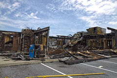 Restaurant Burnt-down Royalty Free Stock Image