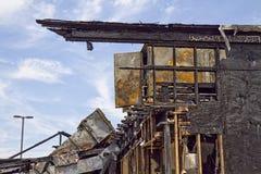 Restaurant Burnt-down Stock Photo