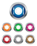 Restaurant buttons. Collection of restaurant buttons in various colors Royalty Free Stock Images