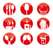 Restaurant buttons Royalty Free Stock Photography