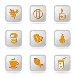 Restaurant buttons. Over white background vector illustration Royalty Free Stock Photography