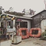 Restaurant côtier d'hutte Images stock