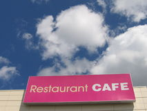 Restaurant cafe. On the sky Stock Photos