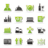 Restaurant, Cafe And Bar Icons Stock Images