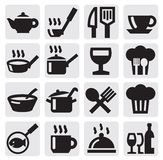 Restaurant, cafe and bar icons Stock Image