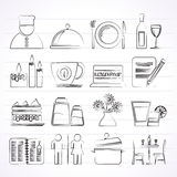 Restaurant, cafe and bar icons Royalty Free Stock Photos