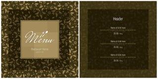 Restaurant, cafe or bar, menu design. Vector available Stock Photography
