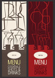 Restaurant, cafe or bar, menu design Stock Photos