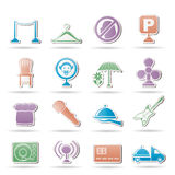 Restaurant, cafe, bar and night club icons Stock Images