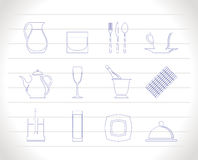 Restaurant, cafe, bar and night club icons - vecto Royalty Free Stock Image