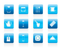 Restaurant, cafe, bar and night club icons Stock Photography