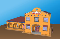 Restaurant cafe building Mexico food tasty Royalty Free Stock Image