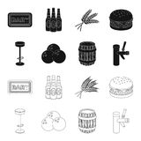 Restaurant, cafe, chair, bowling ball .Pub set collection icons in black,outline style vector symbol stock illustration.  Stock Photography