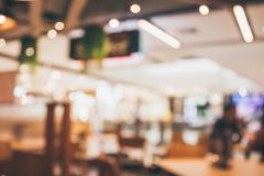 Restaurant cafe interior with people abstract blur background. Restaurant cafe or coffee shop interior with people abstract defocused blur background Stock Photo