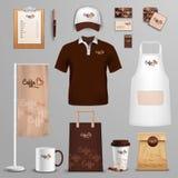 Restaurant cafe corporate identity icons set Royalty Free Stock Images