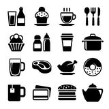 Restaurant and Cafe Food Drink Icon Set. Vector Royalty Free Stock Photography