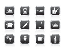 Restaurant, cafe, food and drink icons Royalty Free Stock Photography
