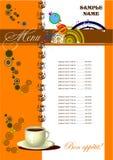 Restaurant (cafe) menu stock photo