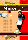 Restaurant (cafe) menu Stock Images