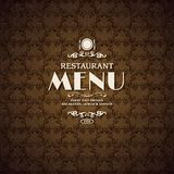 Restaurant cafe menu cover template Royalty Free Stock Images
