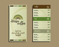 Restaurant and cafe menu. Flat design. With dream Royalty Free Stock Images