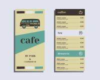 Restaurant and cafe menu. Flat design. Rv park and Stock Photo