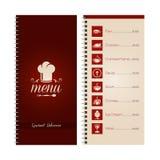 Restaurant or cafe menu Royalty Free Stock Images