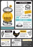 Restaurant cafe menu, template design. Stock Image