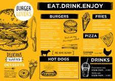 Restaurant cafe menu, template design. Royalty Free Stock Image