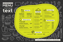 Restaurant cafe menu template design food flyer Stock Photos