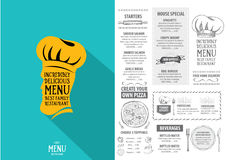 Restaurant cafe menu, template design. Food flyer. Stock Image