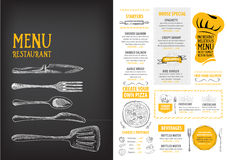 Restaurant cafe menu, template design. Food flyer. Royalty Free Stock Photography